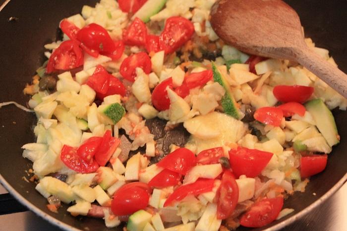 Zucchine tonde ripiene 4
