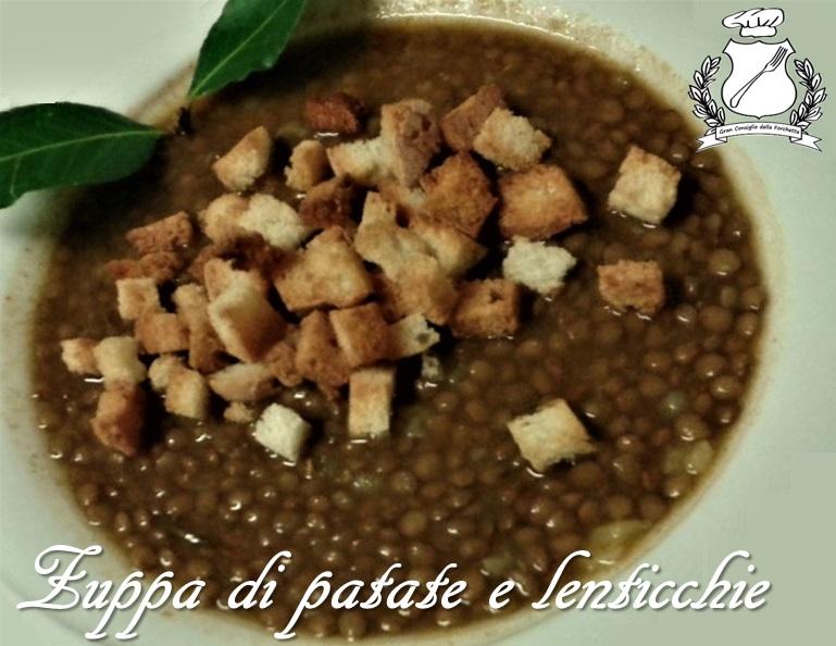 Zuppa di patate e lenticchie