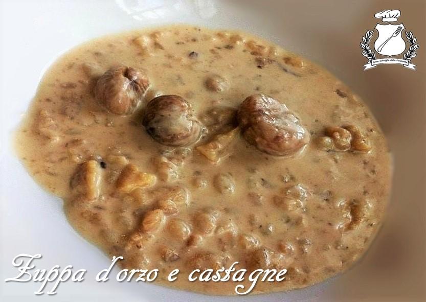 zuppa di orzo e castagne