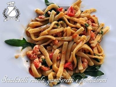 scialatelli gamberetti rucola e pomodorini m