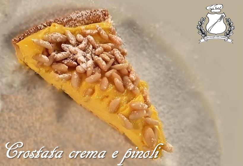 crostata di crema e pinoli