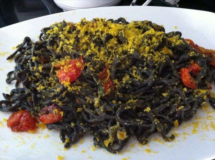 Antoc - Tonnarelli con nero di seppia
