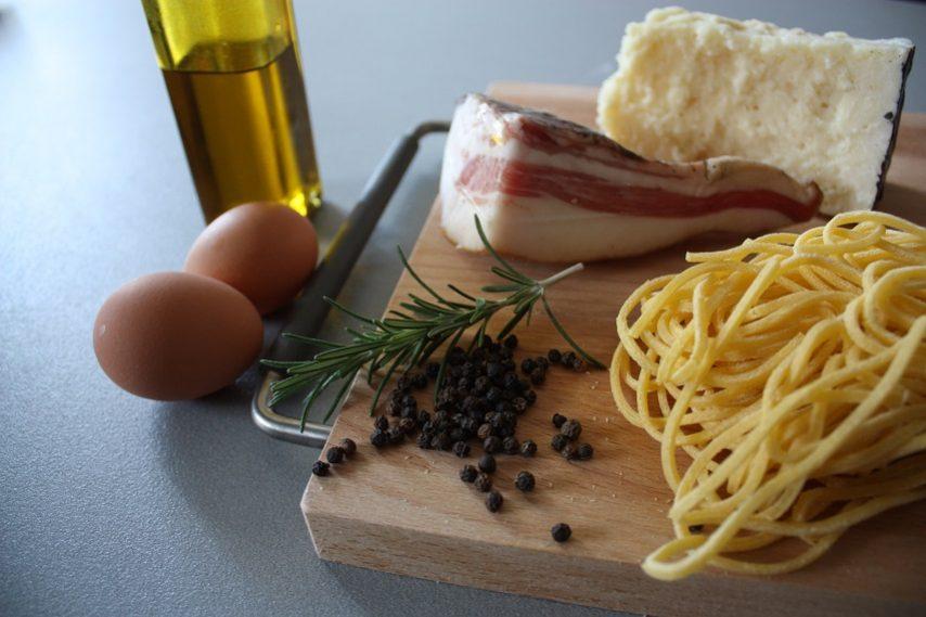 Spaghetti alla carbonara ingredienti