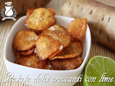 Patate dolci croccanti con lime