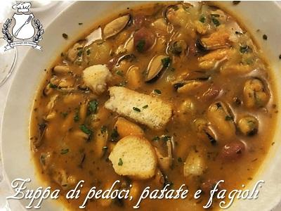 Zuppa di pedoci, patate e fagioli