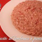 Risotto al lambrusco e pancetta
