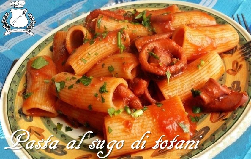 Pasta al sugo di Totani