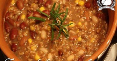 Zuppa di farro con i legumi