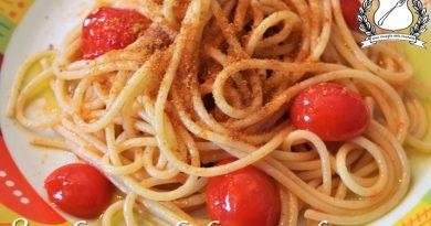 spaghetti con la bottarga di tonno