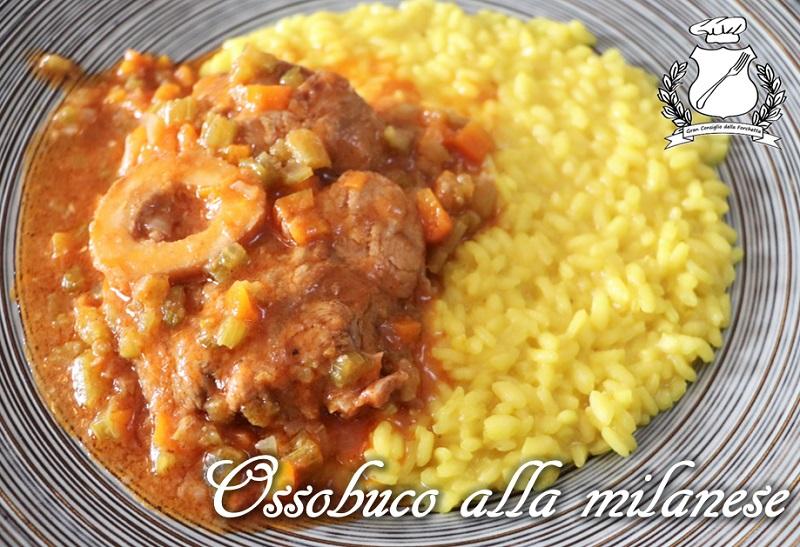 Ossobuco con risotto alla milanese