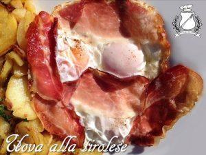 Uova alla tirolese (con speck e patate)