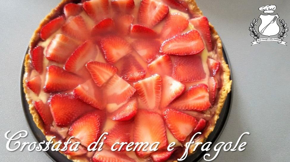 crostata di crema e fragole ricetta dolce