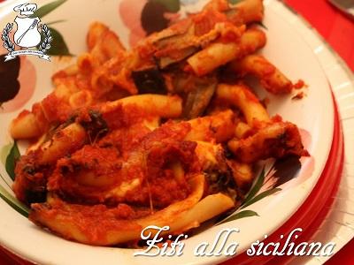 ziti alla siciliana