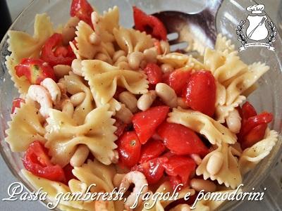 pasta gamberetti fagioli e pomodorini