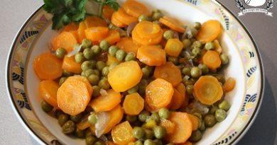 piselli e carote in umido