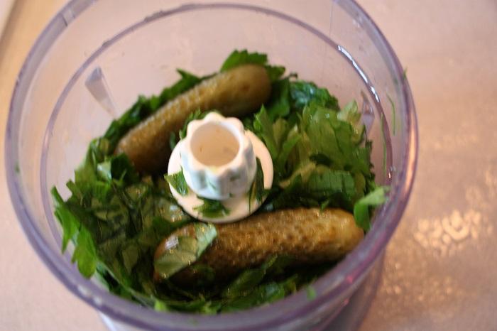 salsa verde con carciofi