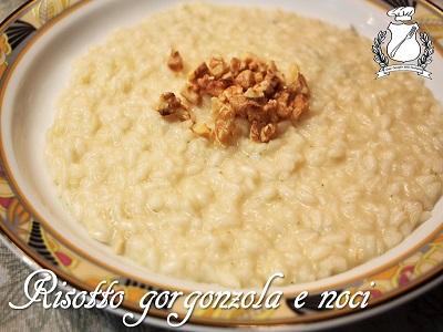 risotto con gorgonzola e noci
