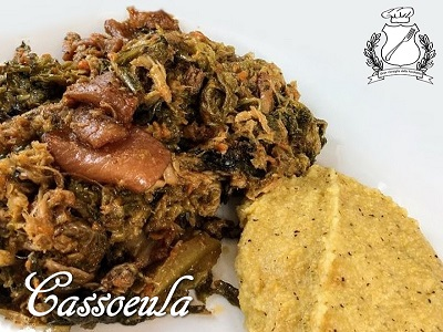 Cassoeula con polenta taragna