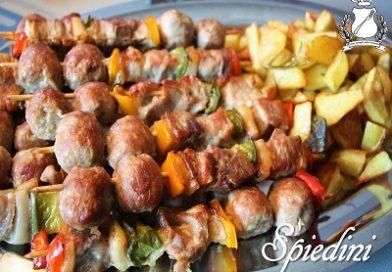spiedini di carne al forno