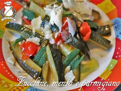 zucchine pomodorini menta e parmigiano
