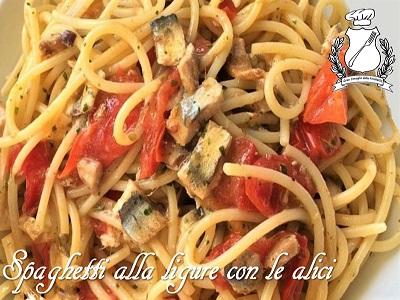 spaghetti alla ligure con le alici