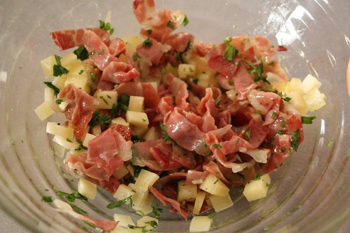peperoni al riso con speck e formaggio