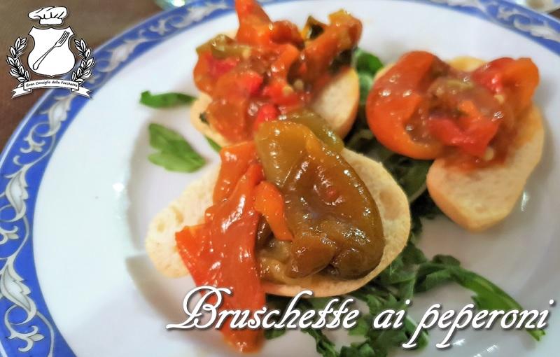 bruschette ai peperoni grigliati
