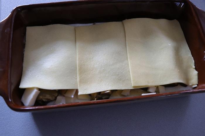 lasagna umbra con funghi tartufo e salsiccia