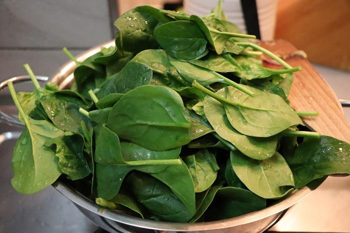 Ceci con spinaci (Garbanzos con espinacas) 05