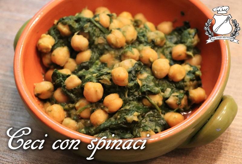 Ceci con spinaci (Garbanzos con espinacas)