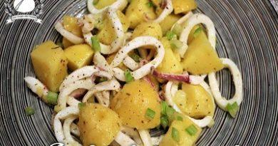 insalata di patate e calamari