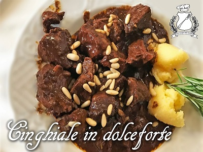 cinghiale in dolceforte