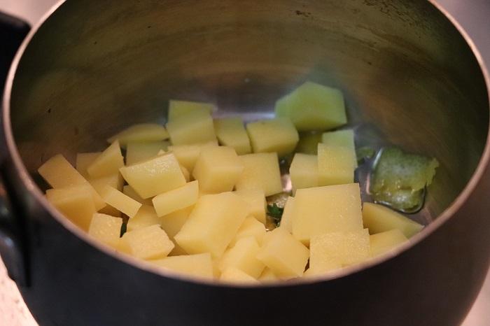 mormora su crema di patate