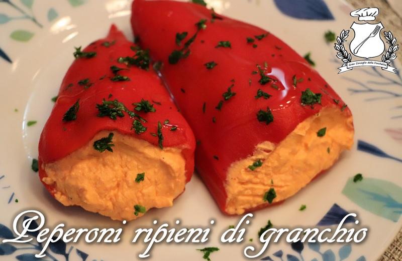 peperoni ripieni di insalata di granchio