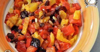 peperoni con pinoli e uvetta