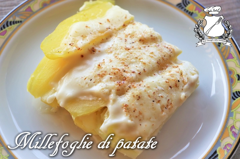 Millefoglie di patate ai 4 formaggi