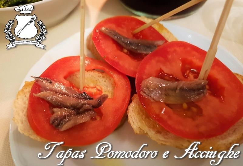 Tapas Pomodoro e Acciughe - Tomato y Anchoas