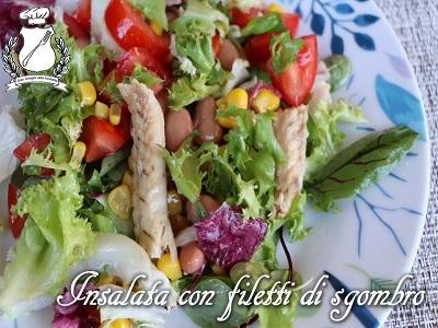 insalata con filetti di sgombro