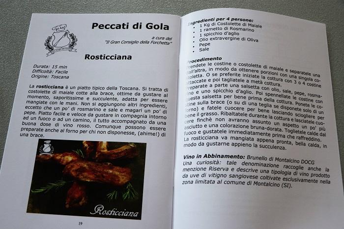 Le ricette toscane sulla rivista Il Maccarino di Colle Val d'Elsa 2