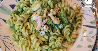 Pasta con calamari e broccoli
