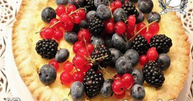 Crostata di crema ai frutti di bosco m
