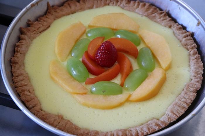 Crostata di crema alla frutta