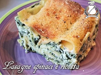Lasagne con spinaci e ricotta m