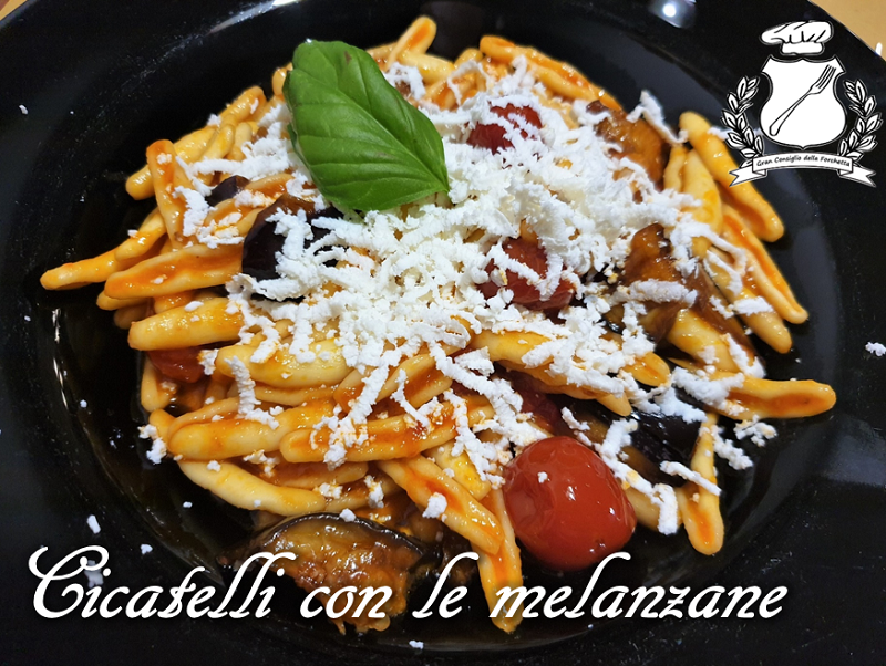 Cicatelli con le melanzane