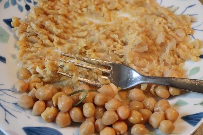 Pasta e ceci con funghi pioppini 05