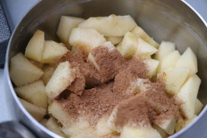 Crostata di composta di mele e cannella 02
